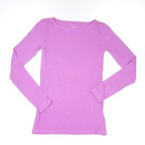 J Crew Long Sleeve Blush Pink Painter Tee Sz XS